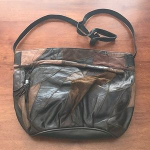 Handbags - Brown Patched Design Purse